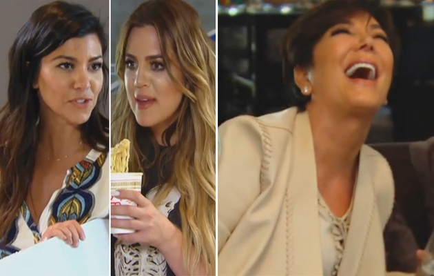 """""""KUWTK"""" Sneak Peek: Khloe & Kourtney Have a Blow Out and Kris Jenner's High"""