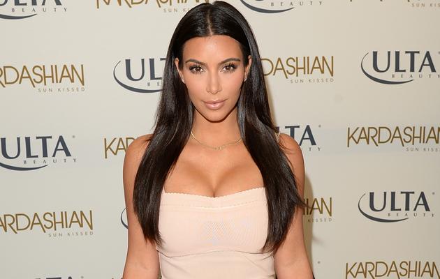 Kim Kardashian Flaunts Major Cleavage in Sexy Strapless Dress