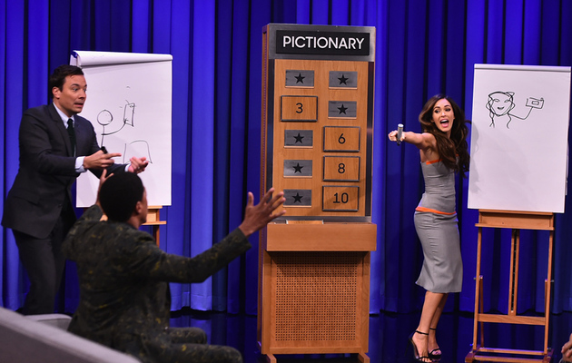 Watch Megan Fox Play Pictionary With Jimmy Fallon, Wiz Khalifa and Nick Cannon