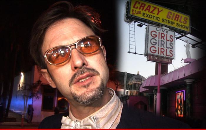 David Arquette Strip Club