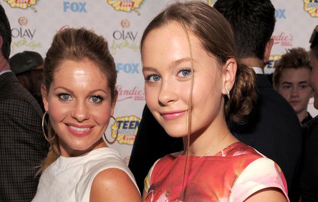 Candace Cameron Brings Mini-Me Daughter Natasha to Teen Choice Awards