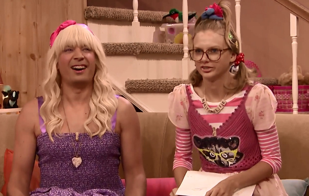 "Taylor Swift's Hilarious in New ""Ew!"" Skit With Jimmy Fallon -- See The Video!"