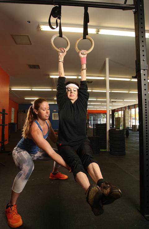 Jackie stallone s fitness photos photo tmz
