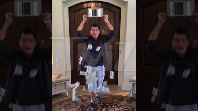 Charlie Sheen -- Ice Bucket Challenge with a BIG Twist | TMZ.com