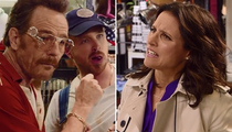 Bryan Cranston, Aaron Paul & Julia Louis-Dreyfus Star in Hilarious Emmy Promo