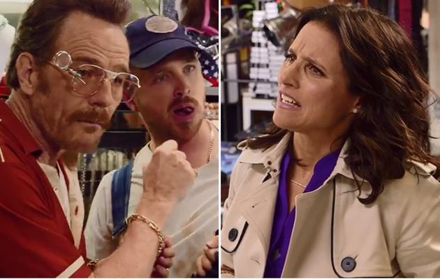 Bryan Cranston, Aaron Paul & Julia Louis-Dreyfus Star in Hilarious Emmy Promo