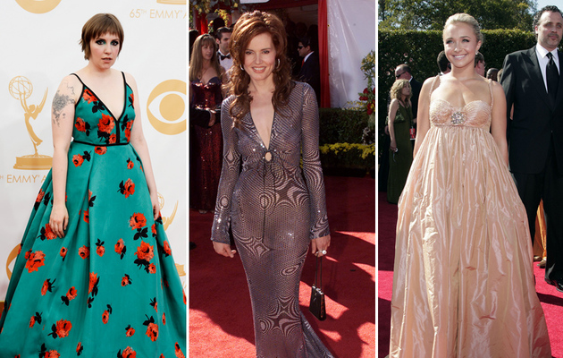 Lena, Geena & Hayden -- See The Worst Dressed Stars of Emmys' Past!
