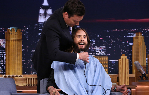 Watch Jimmy Fallon Shave Jared Leto's Beard