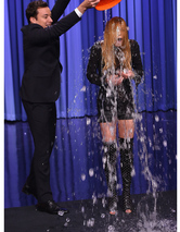 Lindsay Lohan Accepts ALS Ice Bucket Challenge -- See Who She Nominated!