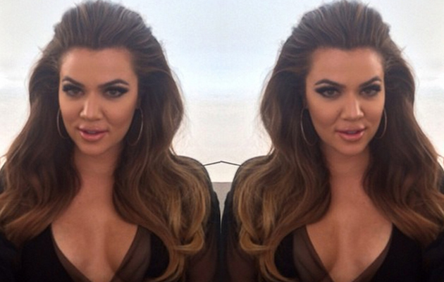 Khloe Kardashian Goes Back to Brunette, Flaunts Major Cleavage in New Instagram Pic
