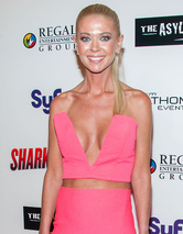 "Tara Reid Flaunts Major Cleavage at ""Sharknado 2"" Party"
