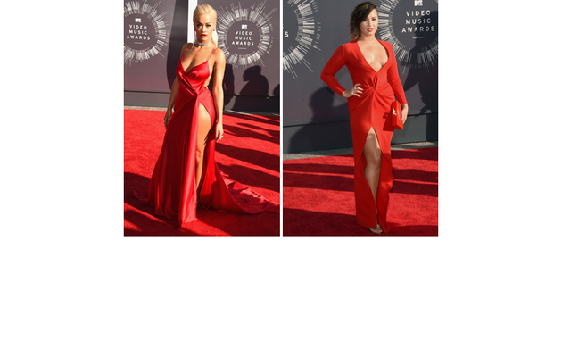 Rita Ora and Demi Lovato Look Red Hot at MTV VMAs