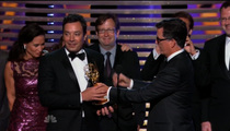 Jimmy Fallon -- Kanyes Stephen Colbert's Emmy Speech
