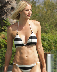 """RHONYC"" Star Kristen Taekman Shows Off New Boobs in Backyard Photo Shoot"