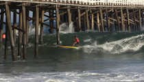Laird Hamilton -- SHOOTS THE PIER ... Insane Surf Video