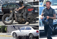David Beckham -- Lays Down His Motorcycle in the Middle of Sunset Strip