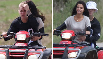 Justin Bieber & Selena Gomez -- PDA on an ATV (PHOTOS)