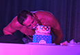 Ryan Lochte -- Devours His Birthday Cake ... Shirtless (VIDEO)