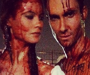 Adam Levine & Behati Prinsloo Get Bloody For New Music Video
