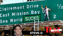 Steve-O -- Taunts Cops After SeaWorld Stunt ... Come Get Me!