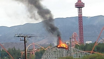 Colossus -- Famous Roller Coaster Is ON FIRE!!