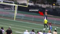 DeAndre Jordan -- INSANE TD GRAB ... At Celeb Football Game