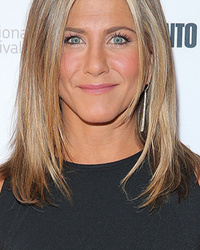 Jennifer Aniston Shares PDA with Just