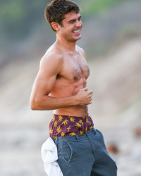 "Zac Efron Shows Off Chiseled Abs on ""We Are Your Friends"" Set"