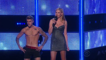 Justin Bieber -- Undresses to Mix of Cheers and Boos