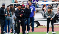 Ray Rice -- SURFACES WITH WIFE ... At High School FB Game