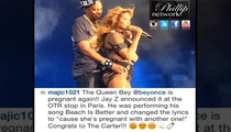 Beyonce -- Jay Z Hints She's Pregnant