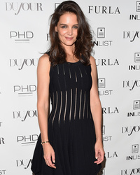 Katie Holmes Shows Off Super Slim Bod in See-Through Dr