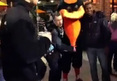 Baltimore Orioles Mascot -- PUNCHED IN THE NUTS ..
