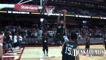 Chris Brown -- BALLIN' OUTTA CONTROL ... At Celeb Hoops Game