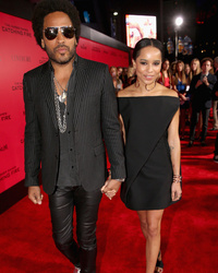 Lenny Kravitz & Daughter Zoe Get Tatt
