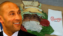 Derek Jeter -- Famous NYC Deli Honors #2 ... With $28 Sandwich