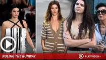 Kendall Jenner -- Makes It Big in Paris ... Gisele Bundchen & Tom Brady Hear Footsteps