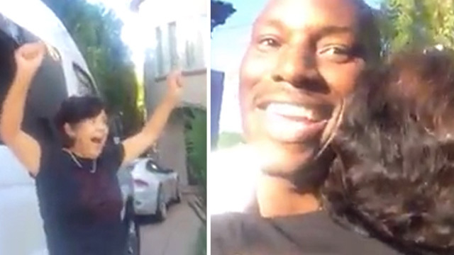 Tyrese Hooks Up The Nanny … With A BRAND NEW CAR!!! [VIDEO]