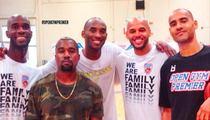 Kobe Bryant -- TRAINING WITH KANYE ... In O.C. Basketball Gym