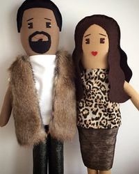 North West Has a Set of Kim and Kanye Dolls ... Of Course