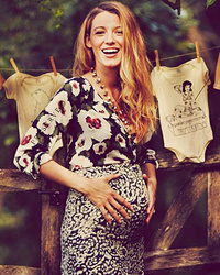 Blake Lively Cradles Growing Baby Bump in New Pic, Talks Pregnancy