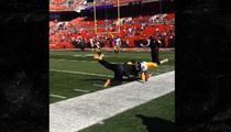 Pittsburgh Steelers -- BIZARRE PREGAME RITUAL ... Face Down, Legs Up