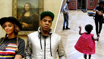 Jay Z and Beyonce -- Artfully Dodge Crowds in Paris