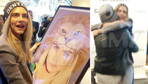 Cara Delevingne -- Framed and Loving It! Makes Out With Random Artist
