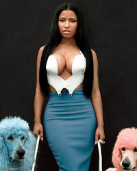 "Nicki Minaj Shows Major Cleavage in GQ, Says ""Anaconda"" Is ""Cheeky"""