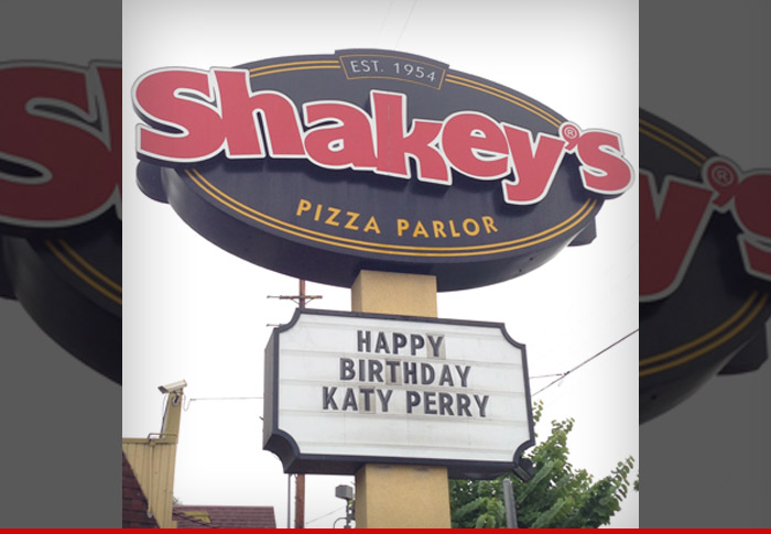 Katy Perry Shakeys Pizza