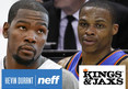 Kevin Durant -- MEN'S UNDERWEAR BATTLE ... With Russell Westbrook
