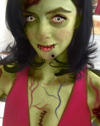 Krysten Ritter Looks Unrecognizable as Creepy Green Zo