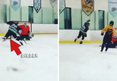 Justin Bieber -- SICK HOCKEY GOAL ... Seriously, It's Impressive
