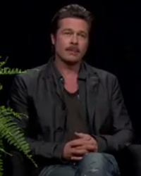 "Brad Pitt Fields Angelina Jolie, ""Friends"" Questions from Zach Galifianakis -- And It's Awkward!"